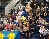 The University of Michigan men's gymnastics team compete in the event finals (Sam Mikulak won titles on parallel bars and high bar) at the NCAA National Championship at Recreation Hall in State College, Pa., on April 21, 2013
