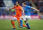 St Johnstone v Kilmarnock.....28.02.15<br /> Chris Kane and Manuel Pascali<br /> Picture by Graeme Hart.<br /> Copyright Perthshire Picture Agency<br /> Tel: 01738 623350  Mobile: 07990 594431