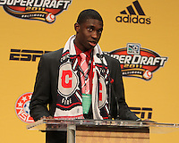 Jalil Anibaba at the 2011 MLS Superdraft, in Baltimore, Maryland on January 13, 2010.