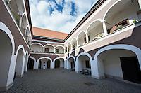 17th century Eszterhazy courtyard of the   Palace (Eszterhazyvak Palotája) -  Fo Square (F? Ter), Sopron, Hungary