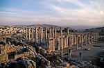 Jordan, Jerash. Remains of the Roman city&amp;#xA;&amp;#xA;<br />