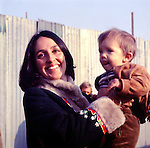 Joan Baez 1970 Isle Of Wight Festival ( with son Gabe?).© Chris Walter.