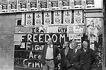 Derry Northern Ireland Londonderry. 1979. Unemployed men city centre.