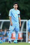 21 September 2012: UNC's Danny Garcia. The University of North Carolina Tar Heels defeated the University of Virginia Cavaliers 1-0 at Fetzer Field in Chapel Hill, North Carolina in a 2012 NCAA Division I Men's Soccer game.