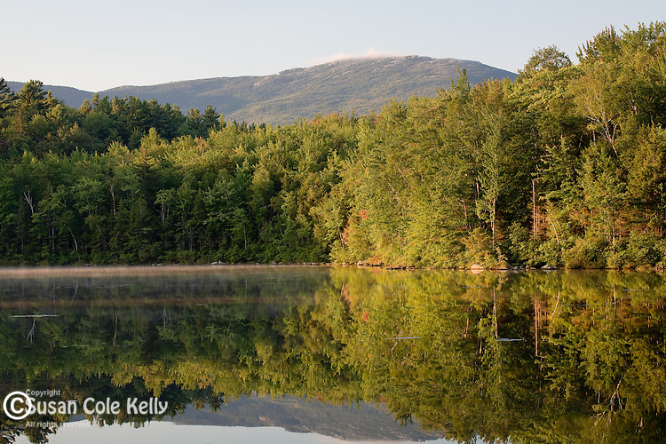 Sunrise on Mount Monadnock reflected in Charcoal Brook in Dublin, Monadnock Region, NH