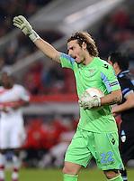 FUSSBALL   INTERNATIONAL   UEFA EUROPA LEAGUE   SAISON 2012/2013    Achtelfinale Hinspiel VfB Stuttgart - Lazio Rom      07.03.2013 Torwart Federico Marchetti (Lazio Rom)