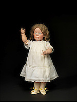 BNPS.co.uk (01202 558833)<br /> Pic: Bonhams/BNPS<br /> <br /> Sold for &pound;170,000.<br /> <br /> Well Hello Dolly  - &pound;1million doll collection sells at Bonhams.<br /> <br /> A creepy collection of almost 100 'lifelike' dolls modelled on children has sold for hearly &pound;1million. <br /> <br /> The eerie-looking toys were made in Germany in the early 20th century as dollmakers strived to produce dolls with realistic human features.<br /> <br /> The collection of 92 dolls, which includes some of the rarest ever made, has been pieced together by a European enthusiast over the past 30 years.