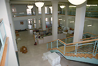 1997 April ..Redevelopment.Tidewater Community College..MARTIN BUILDING.INTERIOR VIEW.COMPLETE.LOOKING FROM LEFT REAR TO FRONT.FROM MEZZANINE..NEG#.NRHA#..