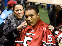 Muhammad Ali looks up to the crowd before Florida vs Louisville during 79th Sugar Bowl game at Mercedes-Benz Superdome in New Orleans, Louisiana on January 2nd, 2013.