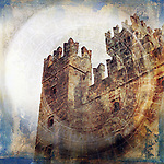 Midieval fortress. Photo based illustration.
