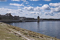Fortress Louisbourg across the water Cape Breton Nova Scotia Canada North America