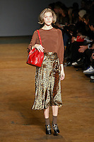 Arizona Muse walks runway in an outfit from the Marc by Marc Jacobs Fall/Winter 2011 collection, during New York Fashion Week, Fall 2011.