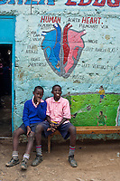 Nairobi, June 2010 -  the St. Michael's children's educational center provides schooling and much-needed medical care in the Mabatini neighborhood. They are able to make a functioning school and medical center with virtually no supplies.