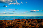 A view of Lake Superior in Grand Marais, Minnesota,  one of the gateways to the Boundary Waters Canoe Area Wilderness in the Superior National Forest in Northern Minnesota.