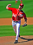 7 June 2009: Washington Nationals' pitcher Mike MacDougal on the mound in relief against the New York Mets at Nationals Park in Washington, DC. The Mets shut out the Nationals 7-0 to take the third game of the weekend series. Mandatory Credit: Ed Wolfstein Photo