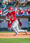 4 March 2016: St. Louis Cardinals catcher Carson Kelly in action during a Spring Training pre-season game against the Houston Astros at Osceola County Stadium in Kissimmee, Florida. The Cardinals fell to the Astros 6-3 in Grapefruit League play. Mandatory Credit: Ed Wolfstein Photo *** RAW (NEF) Image File Available ***