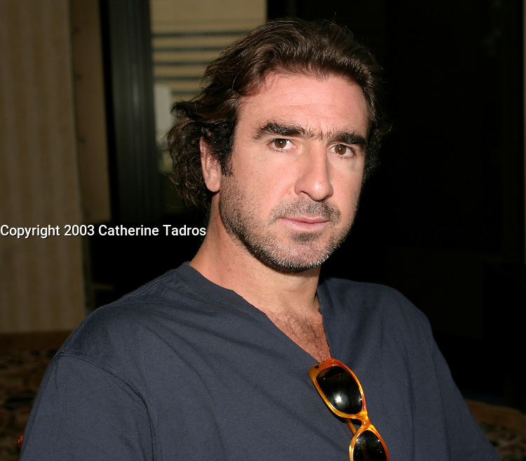 Sept 1,  2003, Montreal, Quebec, Canada<br /> <br /> Eric Cantona, actor - L'OUTREMANGEUR (THE OVEREATER)   during the Montreal World Film Festival, Sept 1 2003<br /> <br /> The Festival runs from August 27th to september 7th, 2003<br /> <br /> <br /> Mandatory Credit: Photo by Catherine Tadros- Images Distribution. (&copy;) Copyright 2003 by Catherine Tadros