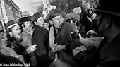 Police and protestors clash, in Grosvenor Square, anti-Vietnam war demonstration march from Trafalgar Sq to Grosvenor Sq Sunday 17th March 1968.