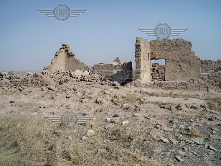 An old farm in Khanasor where Yazidi couple Ashow and his wife Bafi were living before they fled the ISIS advance in 2014. Later it was destroyed by US airstrike, targetting ISIS.