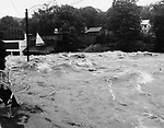 The Mad River during the heart of the flood.