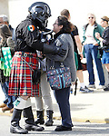 A tender moment as more than 3,000 participants participates in the world-record Jersey Shore Kilt Run at the Manasquan beachfront on Sat., March, 22, 2014.