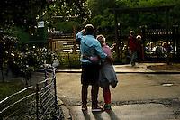 Pedestrians enjoy a walk in central park, New York.  06/05/2015. Eduardo MunozAlvarez/VIEWpress