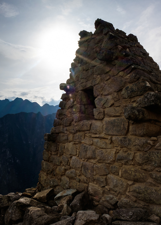 MACHU PICCHU, PERU - CIRCA OCTOBER 2015:  Ruins of Machu Picchu in Peru