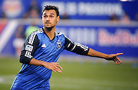 HARRISON, NJ - Saturday July 19, 2014: Chris Wondolowski  returns to play after competing in the 2014 FIFA World Cup in Brazil.  The New York Red Bulls take on the San Jose Earthquakes at Red Bull Arena in regular season MLS play.