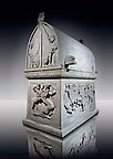 Paros Marble Lycian Sarcophagus from the end of the 5th Cent. B.C  from the Royal Necropolis of Sidon (lebanon), Chamber no IV. Istanbul Archaeological Museum Inv. No 369T Cat. Mendel 63.