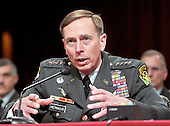 Washington, DC - April 8, 2008 -- General David Petraeus  testifies before the United States Senate Foreign Relations Committee on the situation and progress in Iraq in Washington, D.C. on Tuesday, April 8, 2008..Credit: Ron Sachs / CNP