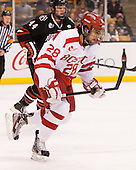 Sahir Gill (BU - 28) - The Northeastern University Huskies defeated the Boston University Terriers 3-2 in the opening round of the 2013 Beanpot tournament on Monday, February 4, 2013, at TD Garden in Boston, Massachusetts.