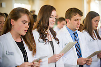 Alexandra Brown, left, Meghan Breen, Nicholas Bonenfant. Class of 2017 White Coat Ceremony.
