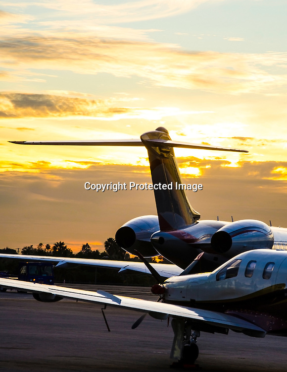 Stock photo of jets Executive Jet aircraft stock photos