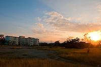 Street scene sunset. Holguin Province Cuba. 8-12-10