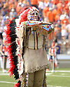 Chief Illini performs at half time in a game between Illinois and San Jose State September 10, 2005 at Memorial Stadium in Champaign, Illinois.  The Illini went on to defeat the Spartans 40 to 19.