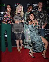 NEW YORK, NY-October 17:Yasmine al Massri, Johanna Braddy, Aunjanue Ellis, Jake McLaughlin,Priyanka Chopra at PaleyFest New York presents Quantico at the Paley Center for Media in New York.October 17, 2016. Credit:RW/MediaPunch