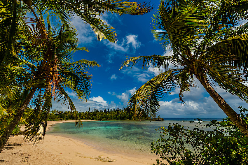 Beach at Mebuet, island of Mare, Loyalty Islands, New Caledonia