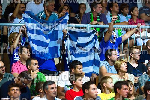Fans during basketball match between national team of Turkey and Greece of Eurobasket 2013 on September 7, 2013 in Arena Bonifika, Koper, Slovenia. (Photo By Matic Klansek Velej / Sportida.com)