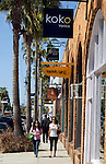 Storefront shops and signs along Abbot Kinney Blvd. in Venice, California