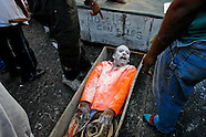 Joselito Carnaval (the main personage of the Carnival) lies in a coffin at the end of the Carnival in Barranquilla, Colombia, 28 February 2006. The Carnival of Barranquilla is a unique festivity which takes place every year during February or March on the Caribbean coast of Colombia. A colourful mixture of the ancient African tribal dances and the Spanish music influence hit for five days nearly all central streets of Barranquilla. Those traditions kept for centuries by Black African slaves have had the great impact on Colombian culture and Colombian society. In November 2003 the Carnival of Barranquilla was proclaimed as the Masterpiece of the Oral and Intangible Heritage of Humanity by UNESCO.