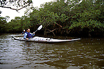 FL: Florida Everglades National Park,.Kayaking near Marco Island..Photo Copyright: Lee Foster, lee@fostertravel.com, www.fostertravel.com, (510) 549-2202.Image: flever237