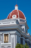Cienfuegos Cuba center square in city center Provincial Assembly building red dome in downtown