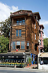 Old wooden style house near the Bosphorus Sea in Istanbul, Turkey