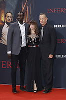 Omar Sy, Felicity Jones and Tom Hanks attending the &quot;Inferno&quot; premiere held at CineStar, Sony Center, Potsdamer Platz, Berlin, Germany, 10.10.2016. <br /> Photo by Christopher Tamcke/insight media /MediaPunch ***FOR USA ONLY***