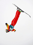 16 January 2009: Shuangfei Dai from China performs aerial acrobatics during the FIS Freestyle World Cup warm-ups at the Olympic Ski Jumping Facility in Lake Placid, NY, USA. Mandatory Photo Credit: Ed Wolfstein Photo. Contact: Ed Wolfstein, Burlington, Vermont, USA. Telephone 802-864-8334. e-mail: ed@wolfstein.net