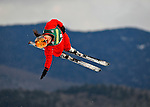 19 January 2008: Xinxin Guo from China takes a practice jump prior the FIS World Cup Freestyle Ladies' Aerial Competition at the MacKenzie Ski Jump Complex in Lake Placid, New York, USA. Guo finished second in both the Qualification Round and the Finals to win the Silver Medal at the event...Mandatory Photo Credit: Ed Wolfstein Photo