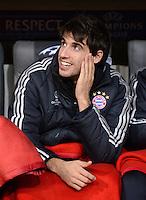 FUSSBALL   CHAMPIONS LEAGUE   SAISON 2012/2013   GRUPPENPHASE   FC Bayern Muenchen - FC Bate Borisov              05.12.2012 Auf der Ersatzbank Javi , Javier Martinez (FC Bayern Muenchen)