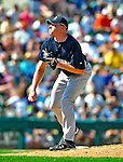11 March 2009: New York Yankees' pitcher Mark Melancon on the mound during a Spring Training game against the Detroit Tigers at Joker Marchant Stadium in Lakeland, Florida. The Tigers defeated the Yankees 7-4 in the Grapefruit League matchup. Mandatory Photo Credit: Ed Wolfstein Photo