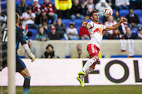 Armando (5) of the New York Red Bulls. The New York Red Bulls and the Colorado Rapids played to a 1-1 tie during a Major League Soccer (MLS) match at Red Bull Arena in Harrison, NJ, on March 15, 2014.