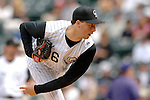 10 September 2006: Jeff Francis, pitcher for the Colorado Rockies, in action against the Washington Nationals. The Rockies defeated the Nationals 13-9 at Coors Field in Denver, Colorado...Mandatory Photo Credit: Ed Wolfstein.